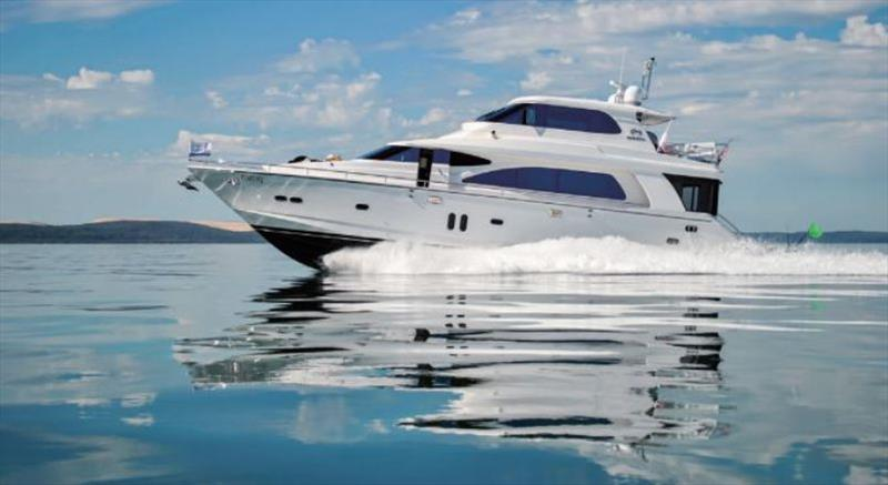 """Horizon E73 was recently delivered to her new owners in New Zealand © Horizon Yachts"""""""