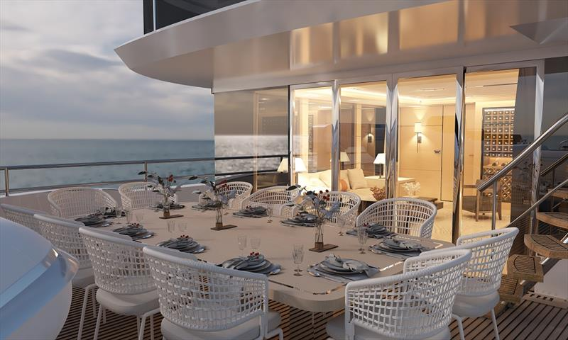 Bering 145 sky lounge - photo © Bering Yachts