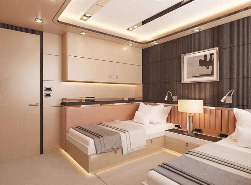 Bering 145 guest room - photo © Bering Yachts