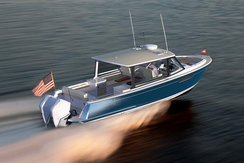 Running with MJM's new 3z photo copyright MJM Yachts taken at  and featuring the Power boat class