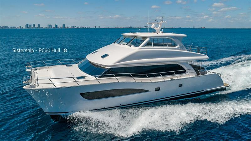 PC60 Hull 18 photo copyright Horizon Yachts taken at  and featuring the Power boat class