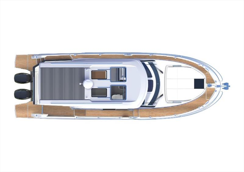 Antares 11 - Top view photo copyright Beneteau taken at  and featuring the Power boat class