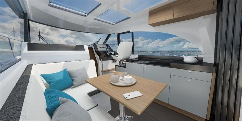 Antares 11 interior photo copyright Beneteau taken at  and featuring the Power boat class