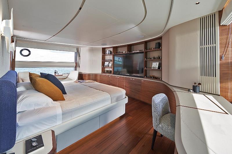 Princess X95 master stateroom - photo © Princess Yachts