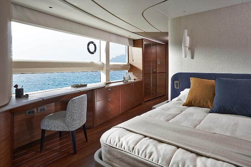 Princess X95 master stateroom dressing area - photo © Princess Yachts