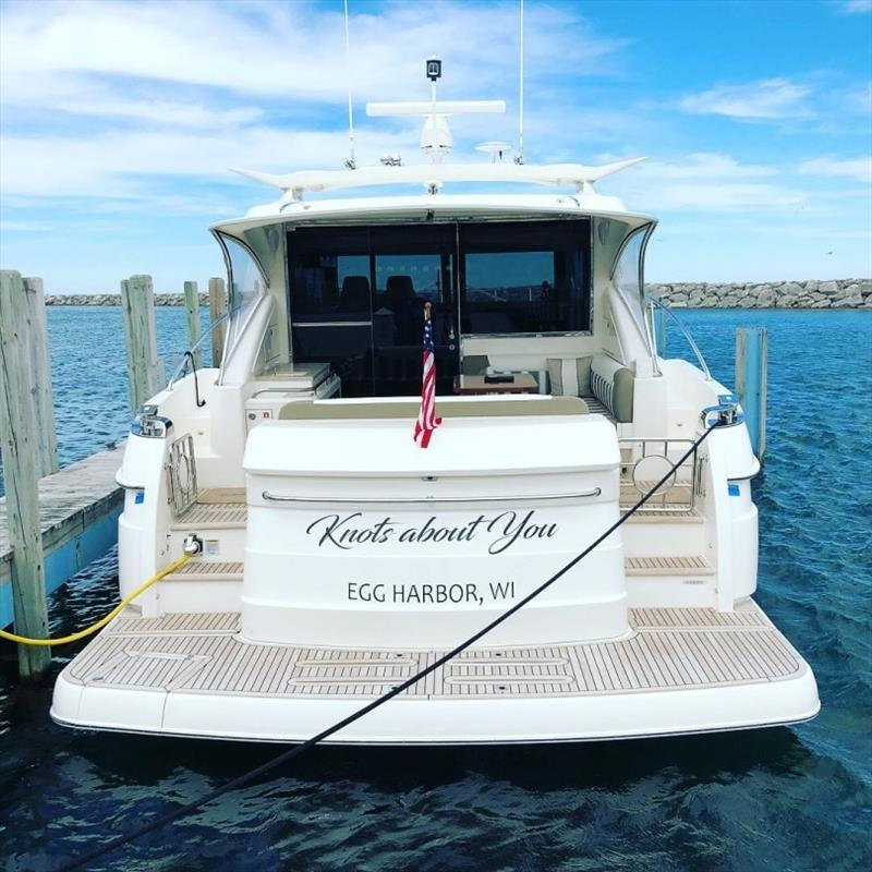 "Roger and Laura have the freedom to explore new waters aboard their Riviera 4800 Sport Yacht 'Knots About You"" - photo © Riviera Australia"
