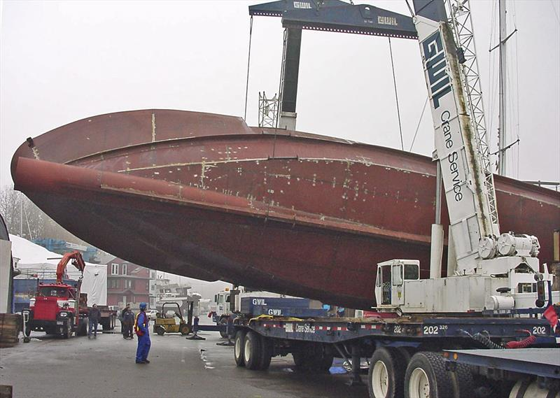 Hull #1 of the Bray 86 foot Ocean Series was in steel. - photo © Bray Yacht Design & Research