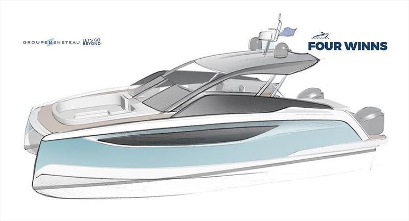 Coming soon - Four Winns 30-something powercat - photo © Groupe Beneteau
