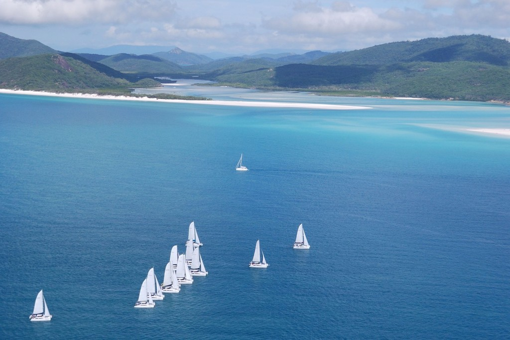 Race underway from Whitehaven Beach - Seawind Whitsunday Rally © Brent Vaughan