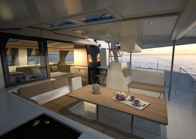 The remarkable new Helia 44, just announced by Fountaine Pajot © Multihull Solutions http://www.multihullsolutions.com.au/