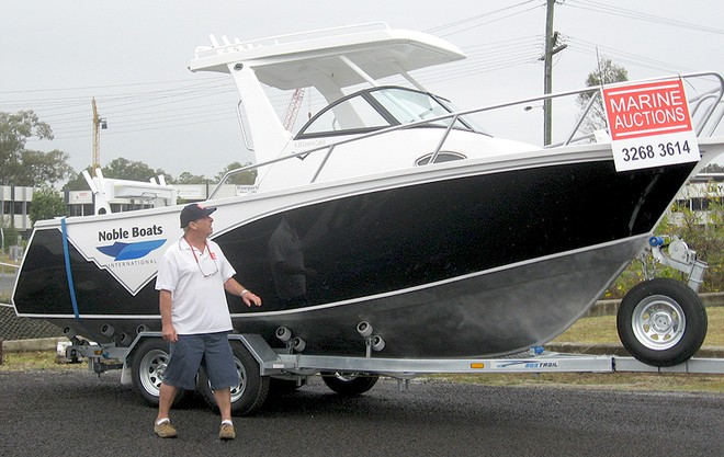 John with one of the brand-new Nobles Marine Auctions has on offer. © Marine Auctions