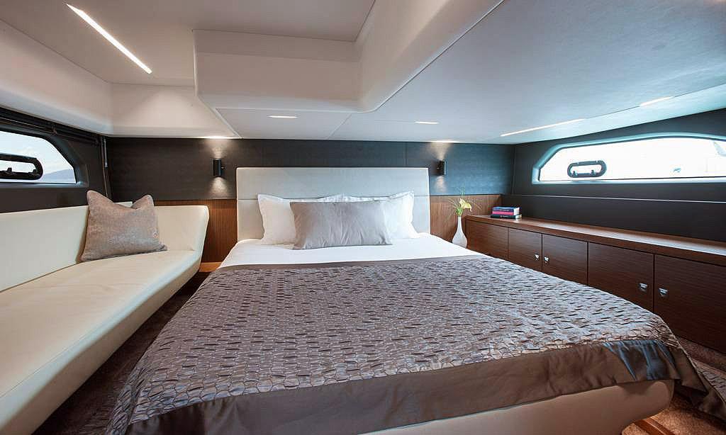 The full beam Owner's Stateroom of Bavaria's R40 © Bavaria Yachts Australia http://www.bavariasail.com.au