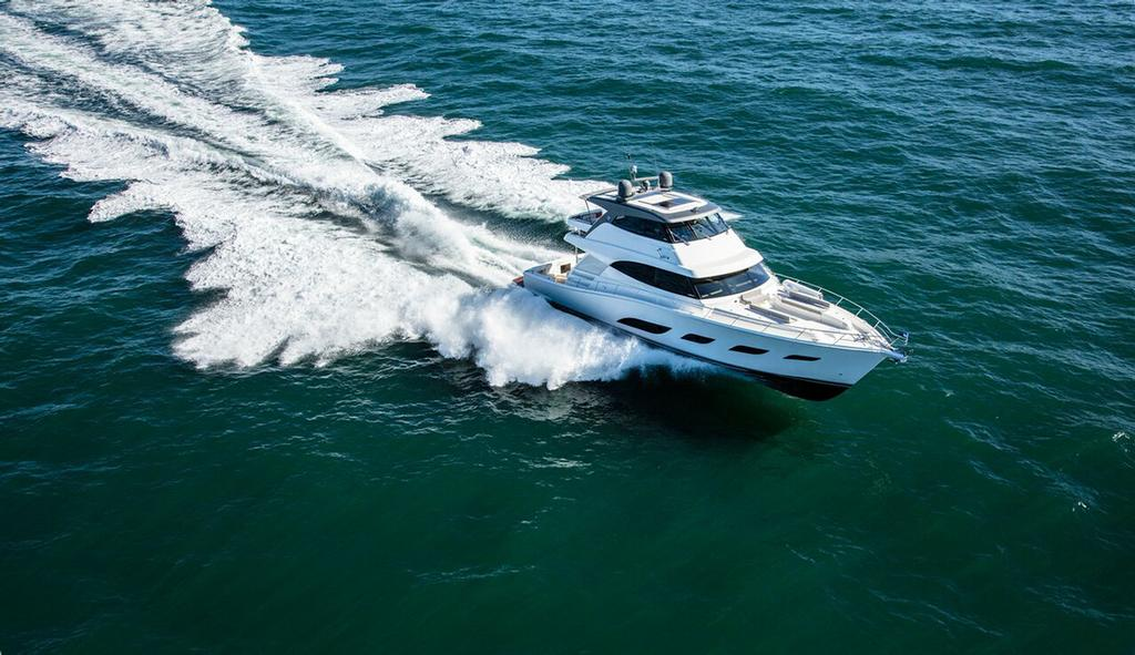 The magnificent new Riviera 68 Sports Motor Yacht will make her World Premiere at the 50th Sydney International Boat Show. © Riviera Australia
