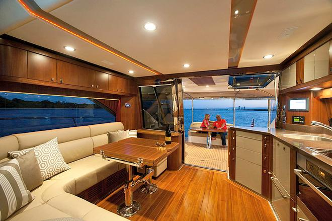 Main saloon is large, practical and comfortable - Belize 54 Daybridge © Riviera . http://www.riviera.com.au