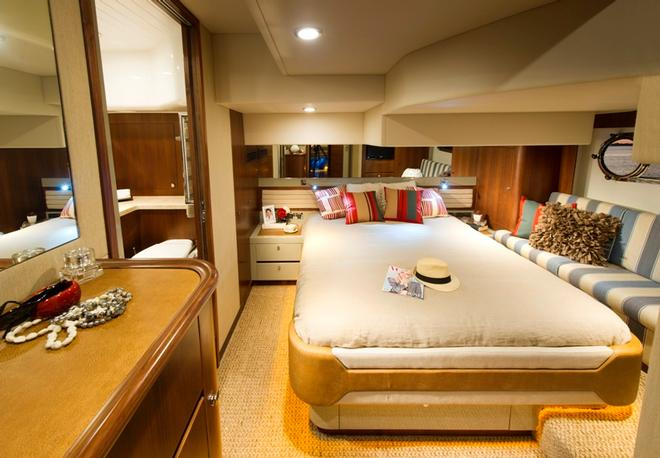 The full beam master suite features premium levels of luxury. © Riviera Australia