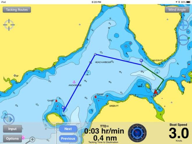 Navionics charts now available with tacking routes in SailTimer App